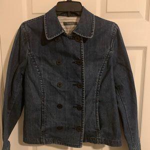 The limited  double breasted Jean blazer 12